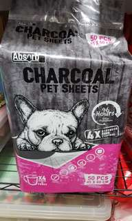 Absorb charcoal pee pads