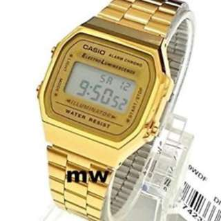 GV Casio Vintage Gold Stainless Steel Watch A168WG-9WDF