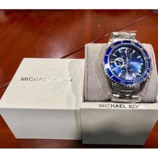 MK Mens Blue Face Wristwatch.