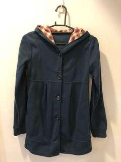 🚚 藍色蝴蝶結格子外套