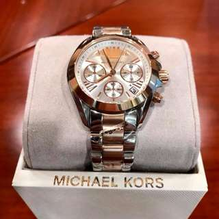 MK Bradshaw Chrinograph Rose Gold Dial Two-Tone Stainless.