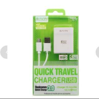 GV BAVIN pc658 16w Fast Charger Qualcomm Quick Charge 3.0