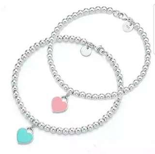FREE POS S925 Silver Bracelet Ladies Love