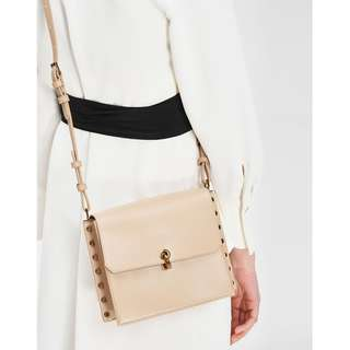 CNK REVERSIBLE FLAP CROSSBODY BAG