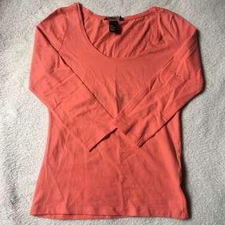 H&M salmon pink shirt