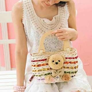 Bear rattan bag new design