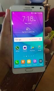 Samsung Note 4 32gb with amoled burn unti
