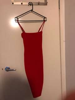 Nookie red classic dress only worn once for my bday