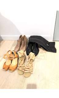 Assorted shoes for sale leather wittner Country road zomp Swedish hasbeens