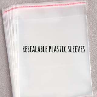 instocks: plastic sleeves