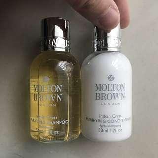 Molton brown shampoo & conditioner 50ml travel kit