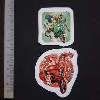 C5B DC Comics Green Lantern & Red Lantern Corps Sticker Stickers