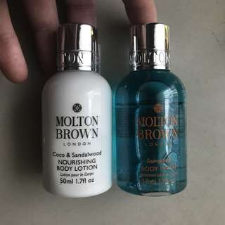 Molton brown shower gel & body lotion