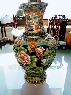 薄料金地銅胎掐絲琺瑯花瓶