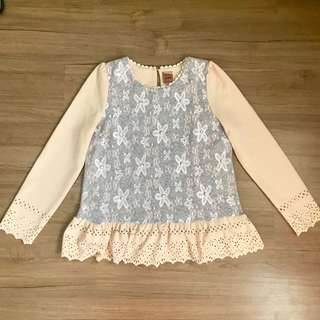 Korean Embroidered Casual Top