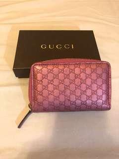 Gucci monogram coins bag small wallet card case 銀包
