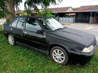 Proton saga 1.3 black hatchback 2007