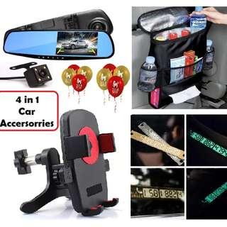 4 in 1 Car Accersories Package Car DVR Bag Phone Plate Holder
