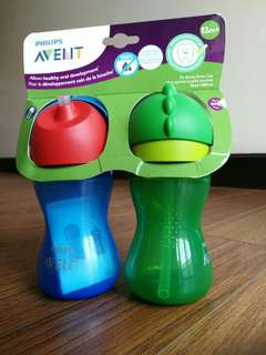 Avent 2pack Straw Cup 10oz