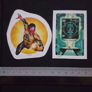 C5B DC Comics Sinestro & The Book Of Oa Sticker Stickers