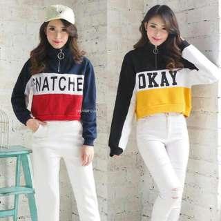paket 2pcs sweater snatched & okay