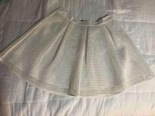 White dotti skirt