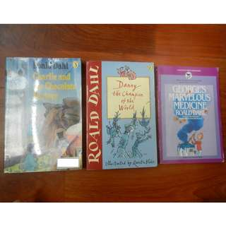 'Charlie and the Chocolate Factory' / 'Danny the Champion of the World' / 'George's Marvelous Medicine' by Roald Dahl