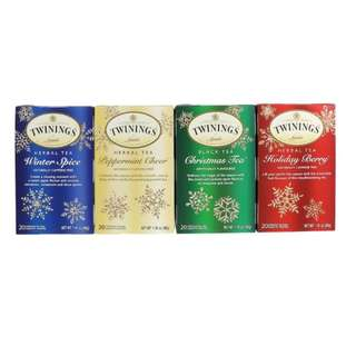 Twinings, Herbal Tea Variety Pack, Special Edition, Holiday, 4 Boxes, 20 Tea Bags Each