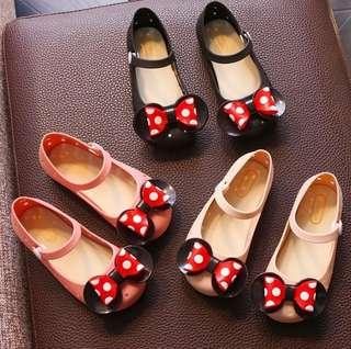 🚚 嚴選 小孩 兒童 迪士尼 米妮款 公主 包頭鞋 果凍鞋 洞洞鞋 透氣鞋 現貨 快速出貨 嬰幼兒用品