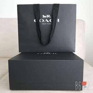 Coach Gift Box & Paper Bag
