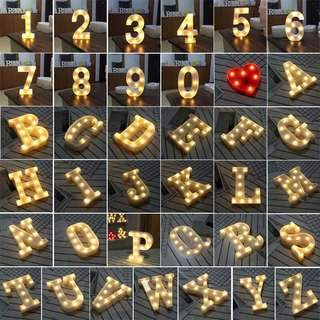 Alphabet Led Lights