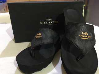 Coach Authentic Strap Sandals. Used once in a mall. Original price $98.00