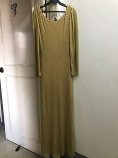 FOR RENT- Elegant Gold Gown