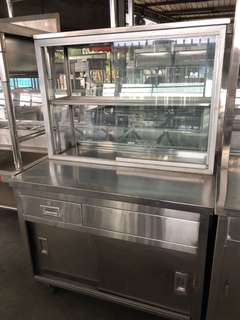 Stainless steel display stall