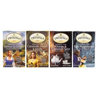 Twinings, Herbal Tea Variety Pack, Special Edition, Beauty and the Beast, 4 Boxes, 20 Tea Bags Each