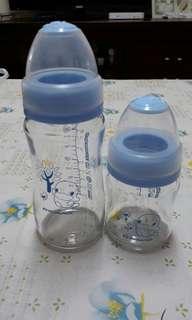 酷咕鴨 寬口玻璃奶瓶240ml、120ml