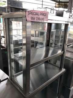 Stainless steel glass display rack