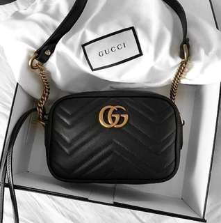 Gucci GG Marmont matelassé mini bag 黑色 Gucci handbag 現貨 澳洲直購 gucci mini bag
