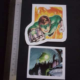 C5B DC Comics Green Lantern's Power Source & Power Ring Sticker Stickers