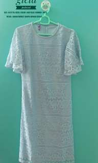 Brukat Dress Baby Blue