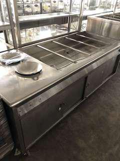 Stainless steel Ban Marie Nasi Campur