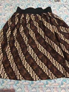 Batik Midi Skirt no brand