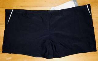 New Mens Active & Co Black Square Cut Swim Short Stretch Swimsuit XXL, XL, L, M, S Trunks