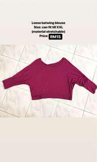 Cropped batwing top