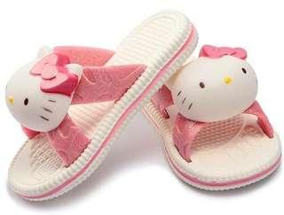 🚚 嚴選 小孩 兒童 韓版 可愛 凱蒂貓 hellokitty 立體人物 拖鞋 居家鞋 防滑 現貨 快速出貨 嬰幼兒用品