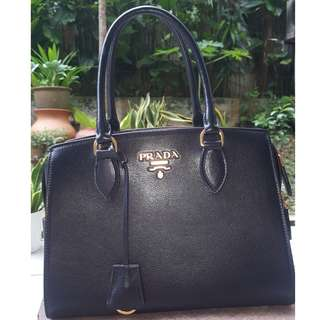 Prada Glace Calf Nero (Authentic/New)