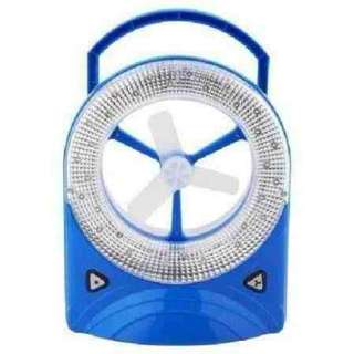 Rechargable fan with led light