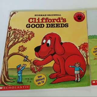 VALUE BUY Clifford The Big Reddog Scholastic reading series. 2 books paperback