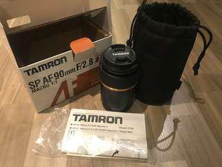 Tamron Af 90mm F/2.8 Macro canon 鏡頭 99% new