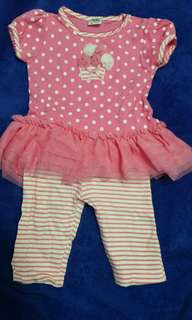 2 pieces Baby Girl tutu Set for 9-18months